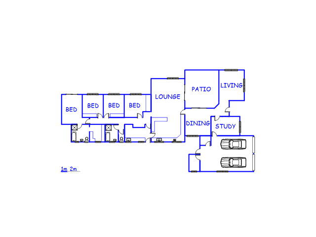 Floor plan of the property in Bonnievale