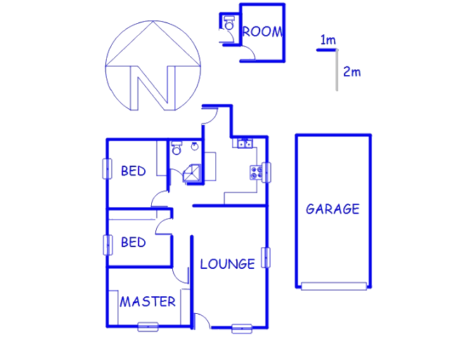 Floor plan of the property in South Hills