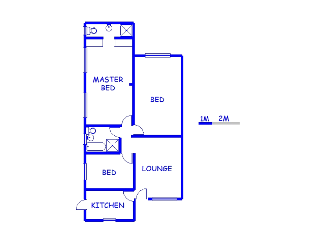 Floor plan of the property in Booysens Park