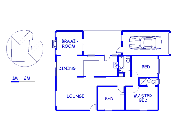 Floor plan of the property in King George Park