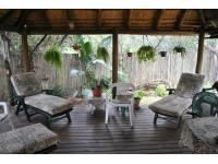Patio of property in Marloth Park