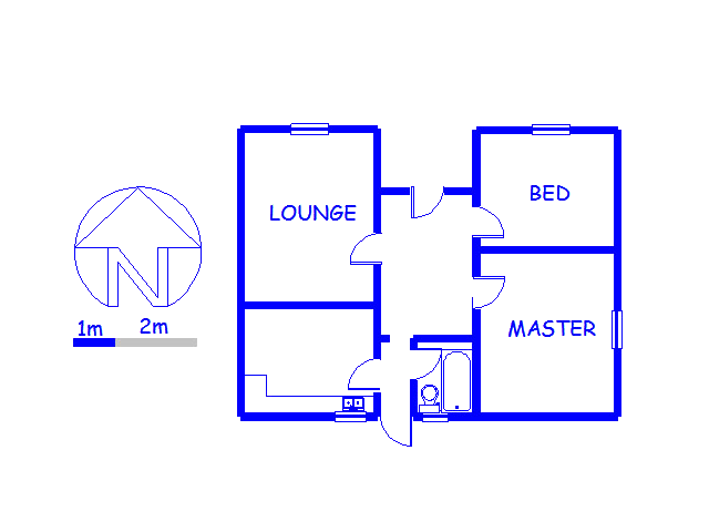 Floor plan of the property in Woodstock
