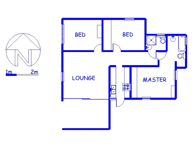 Floor plan of the property in Sanlameer
