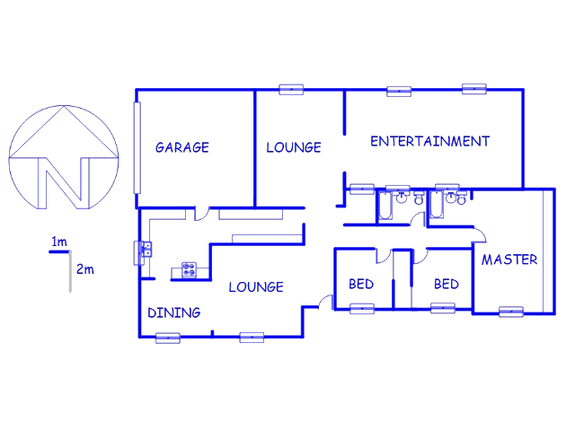 Floor plan of the property in Brackenhurst