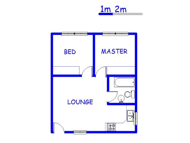 Floor plan of the property in Sonheuwel