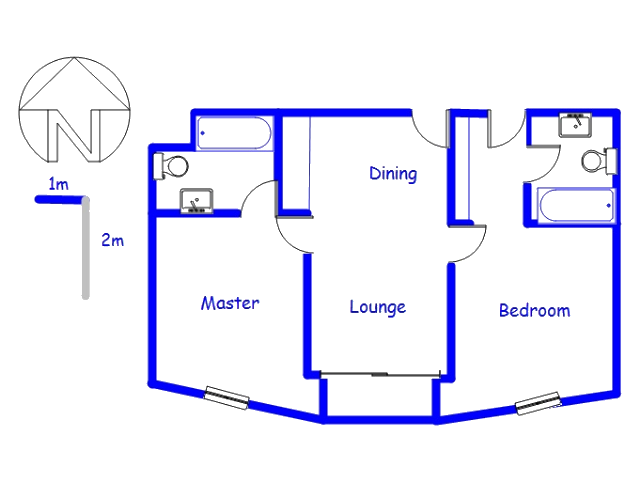 Floor plan of the property in Strand