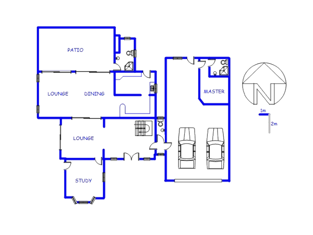 Floor plan of the property in Rietvalleirand
