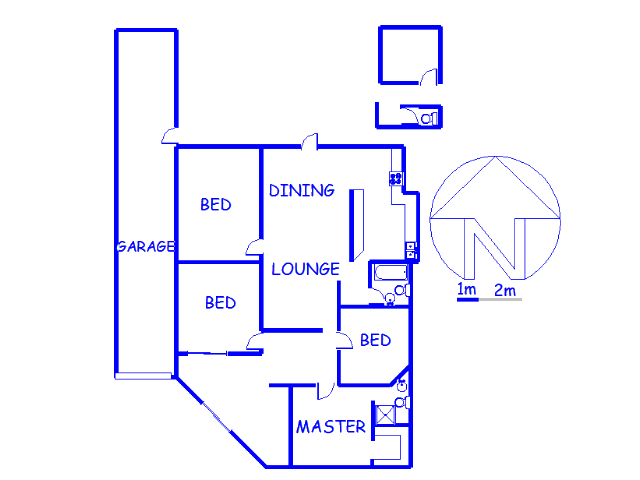 Floor plan of the property in Mayfair
