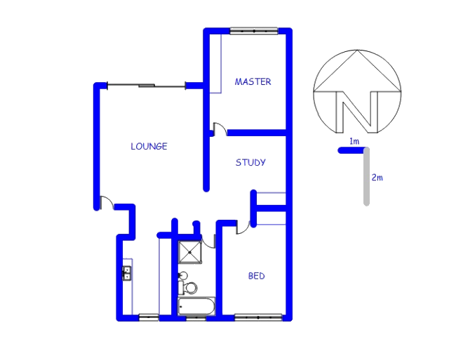 Floor plan of the property in Hennopspark