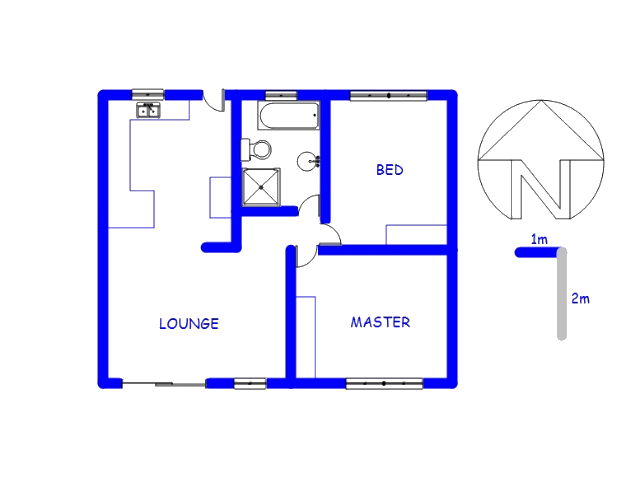 Floor plan of the property in Riversdale