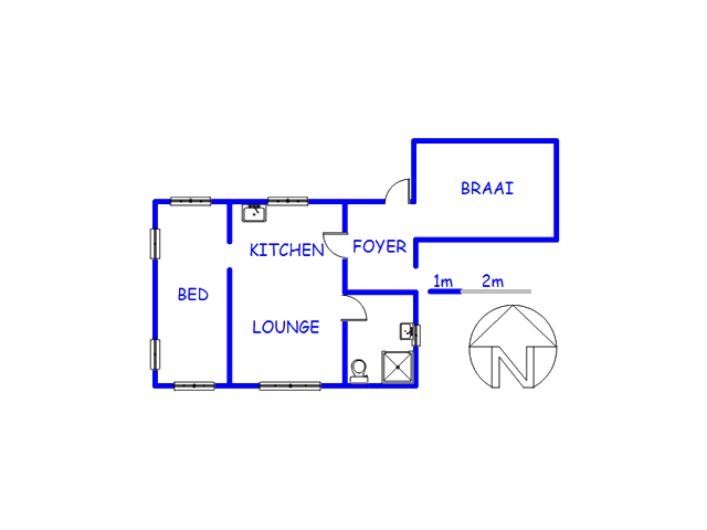 Floor plan of the property in Pearly Beach