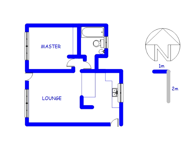 Floor plan of the property in Die Hoewes