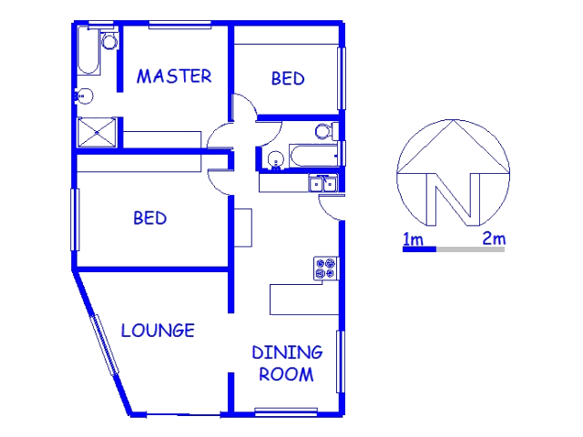 Floor plan of the property in Woodview