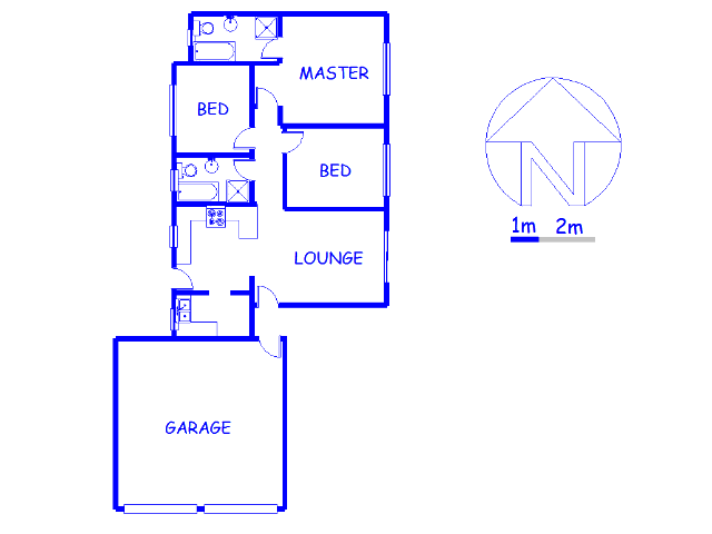 Floor plan of the property in Capital Park