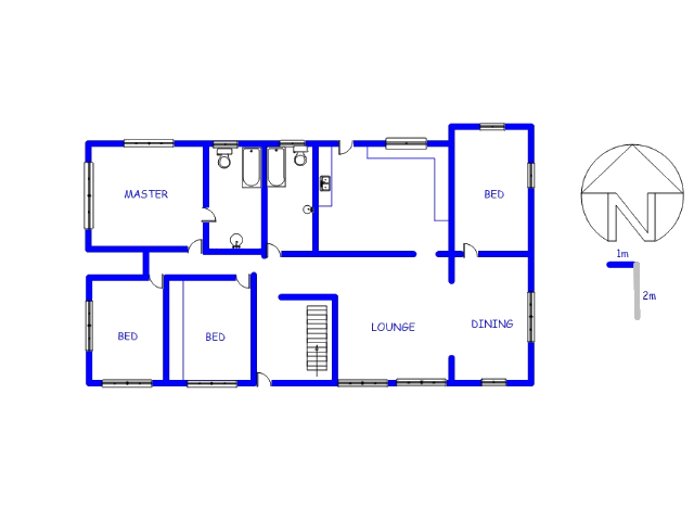 Floor plan of the property in Laudium