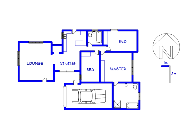Floor plan of the property in Danville