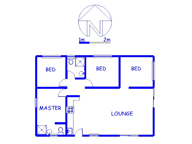 Floor plan of the property in Clairwood