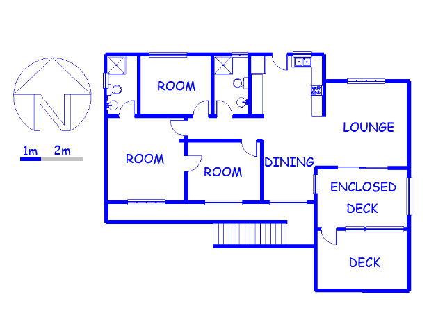 Floor plan of the property in Port Alfred