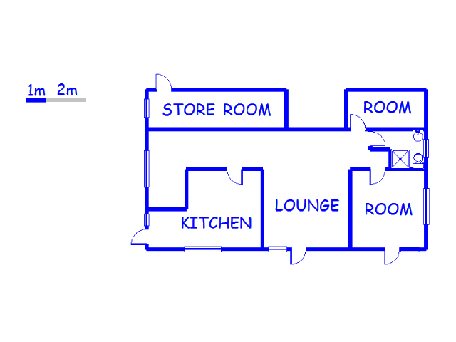Floor plan of the property in East London