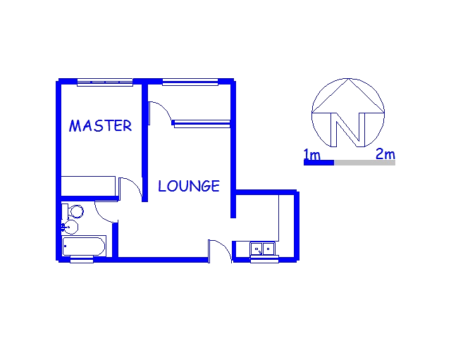 Floor plan of the property in Bluff