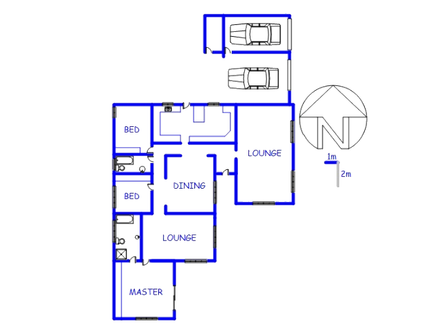 Floor plan of the property in Southcrest