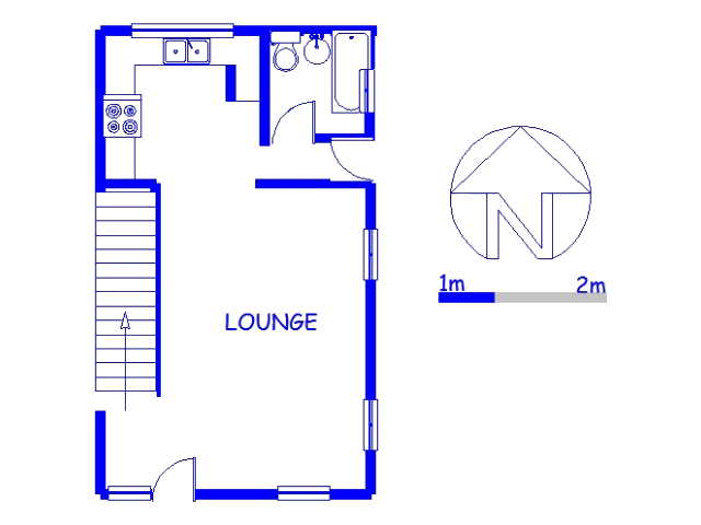 Floor plan of the property in Chatsworth - KZN