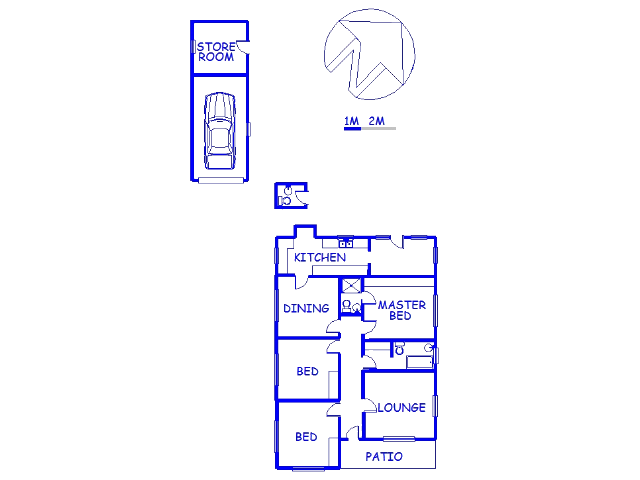 Floor plan of the property in Bodorp