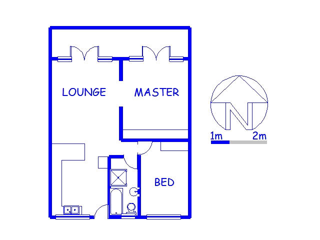 Floor plan of the property in Port Edward