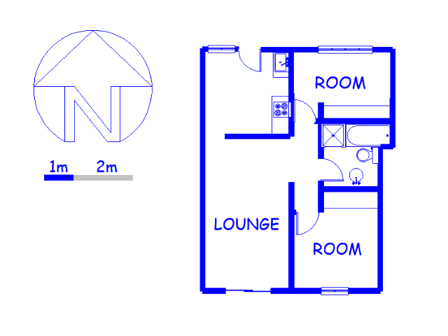 Floor plan of the property in Maitland