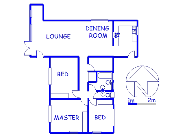 Floor plan of the property in The Wolds