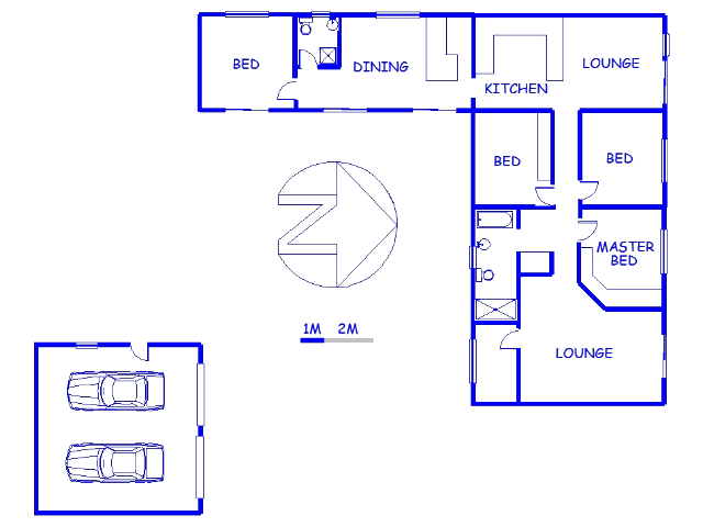 Floor plan of the property in Mossel Bay