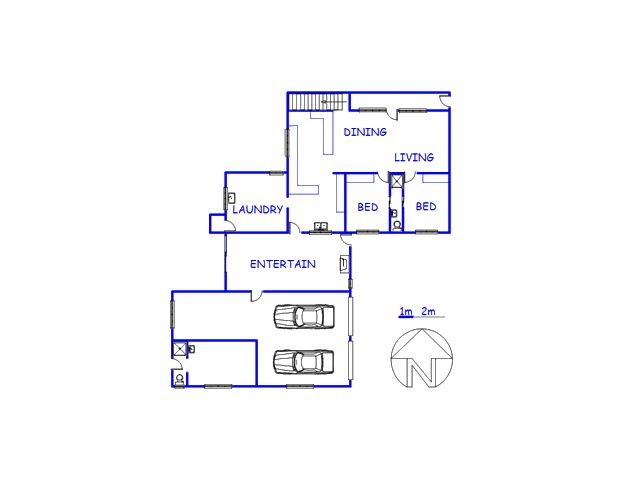Floor plan of the property in De Kelders