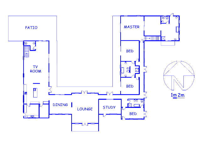Floor plan of the property in Zwavelpoort