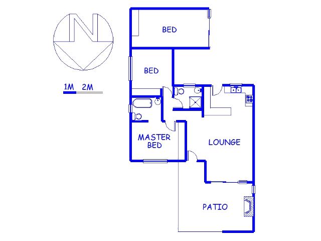 Floor plan of the property in Denneoord