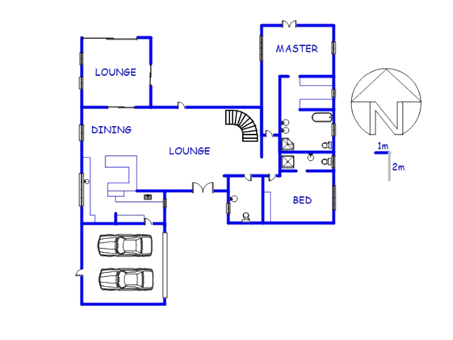 Floor plan of the property in Centurion Golf Estate