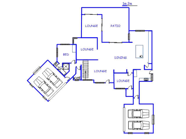 Floor plan of the property in Blue Valley Golf Estate