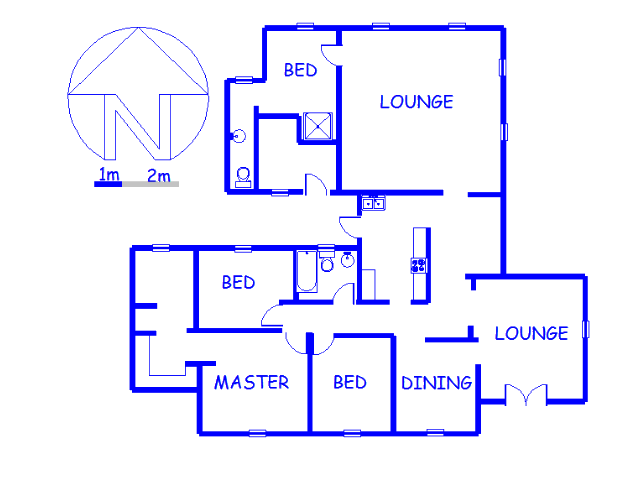 Floor plan of the property in Olivedale