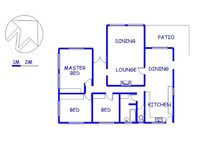 Floor plan of the property in Knysna
