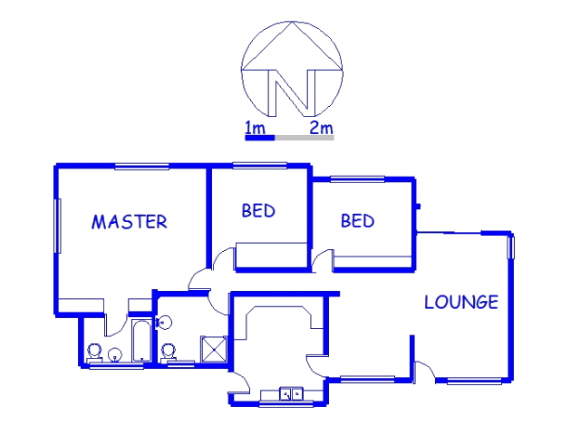 Floor plan of the property in Pennington