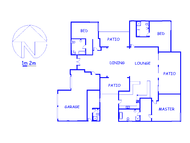 Floor plan of the property in Meerhof