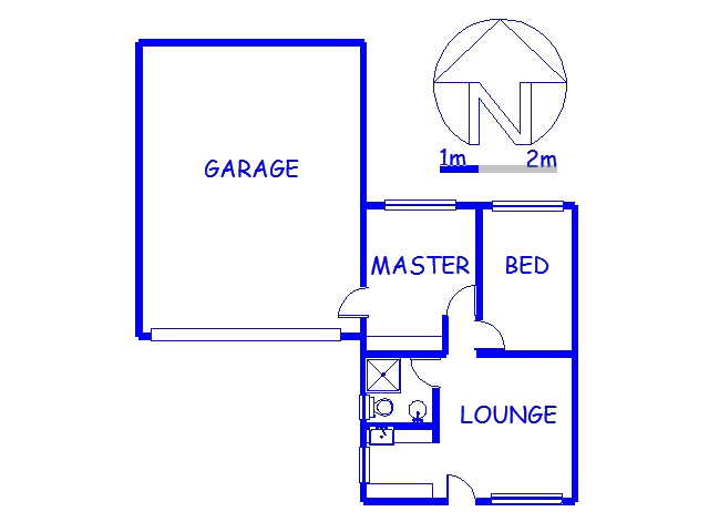 Floor plan of the property in Trenance Park