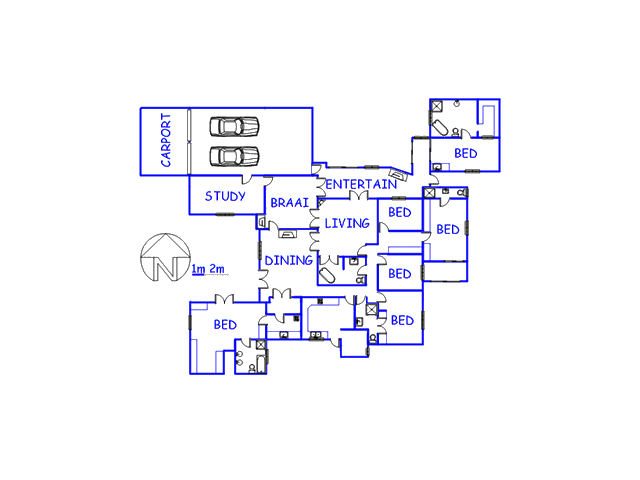 Floor plan of the property in Bellville South