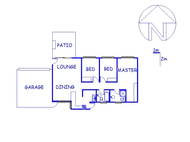 Floor plan of the property in Montana