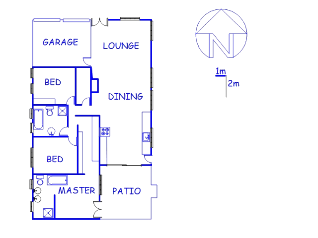 Floor plan of the property in Heritage Hill