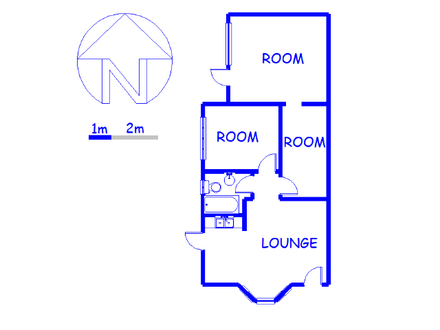 Floor plan of the property in Milnerton