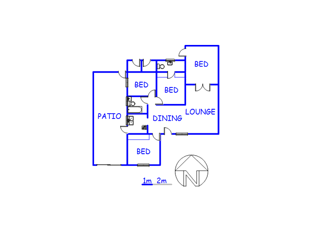 Floor plan of the property in Langa