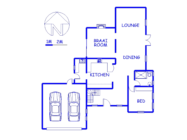 Floor plan of the property in Eden George
