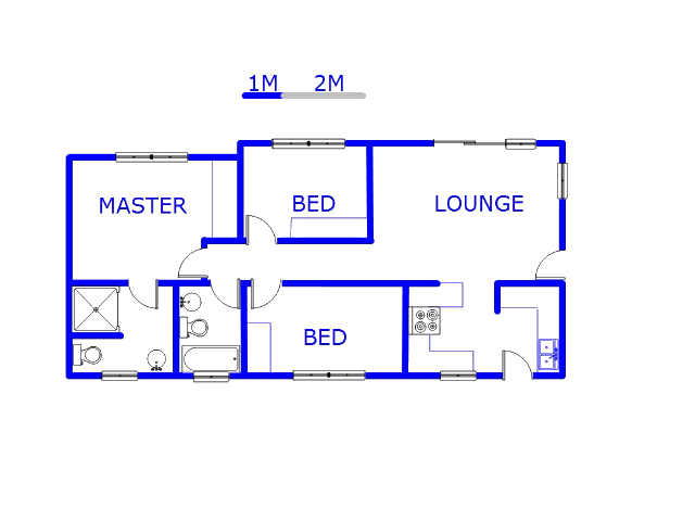 Floor plan of the property in Radiokop