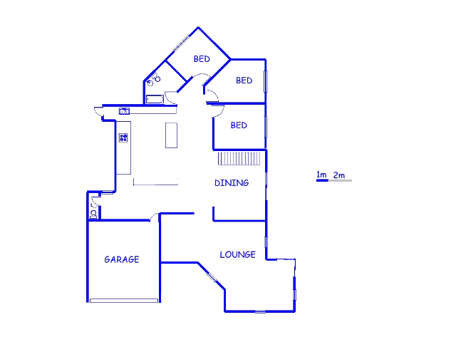 Floor plan of the property in Winchester Hills