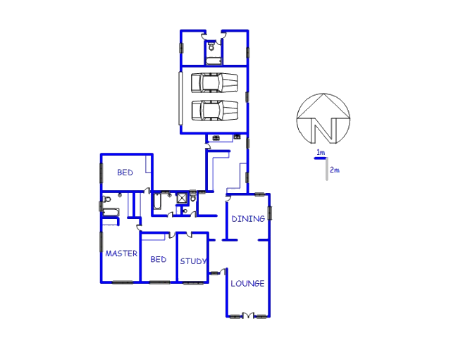 Floor plan of the property in De Wetshof